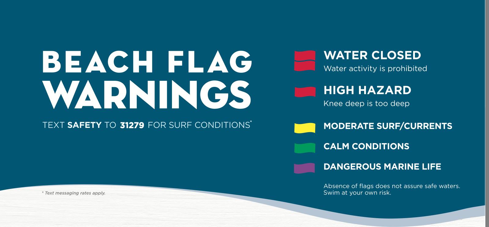 Beach flag warnings