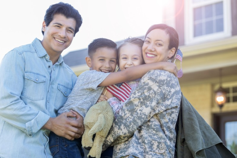 Military Mother and Family