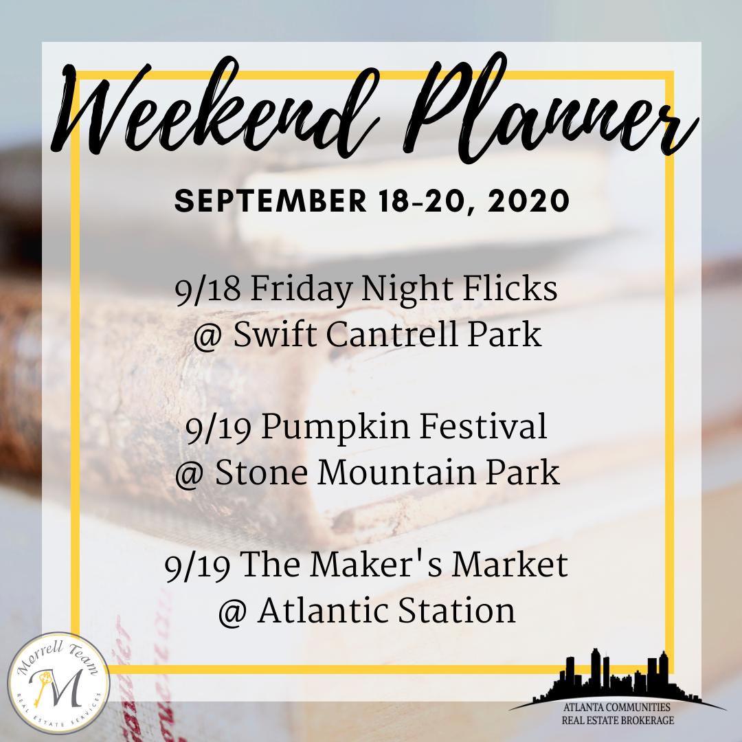 Weekend Planner September 16, 2020