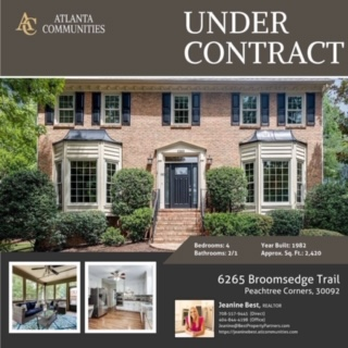 6265 Broomsedge Trail is under contract