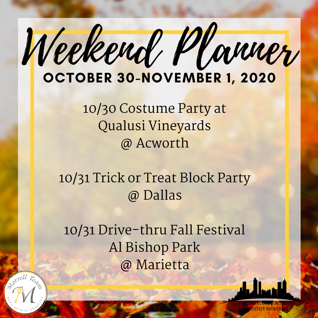 Weekend Planner ~ October 28, 2020