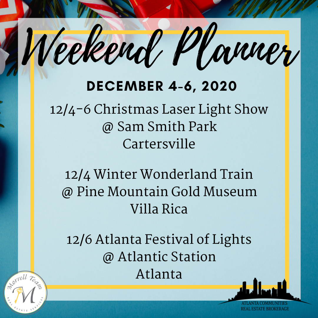 Weekend Planner - Dec 4-6, 2020