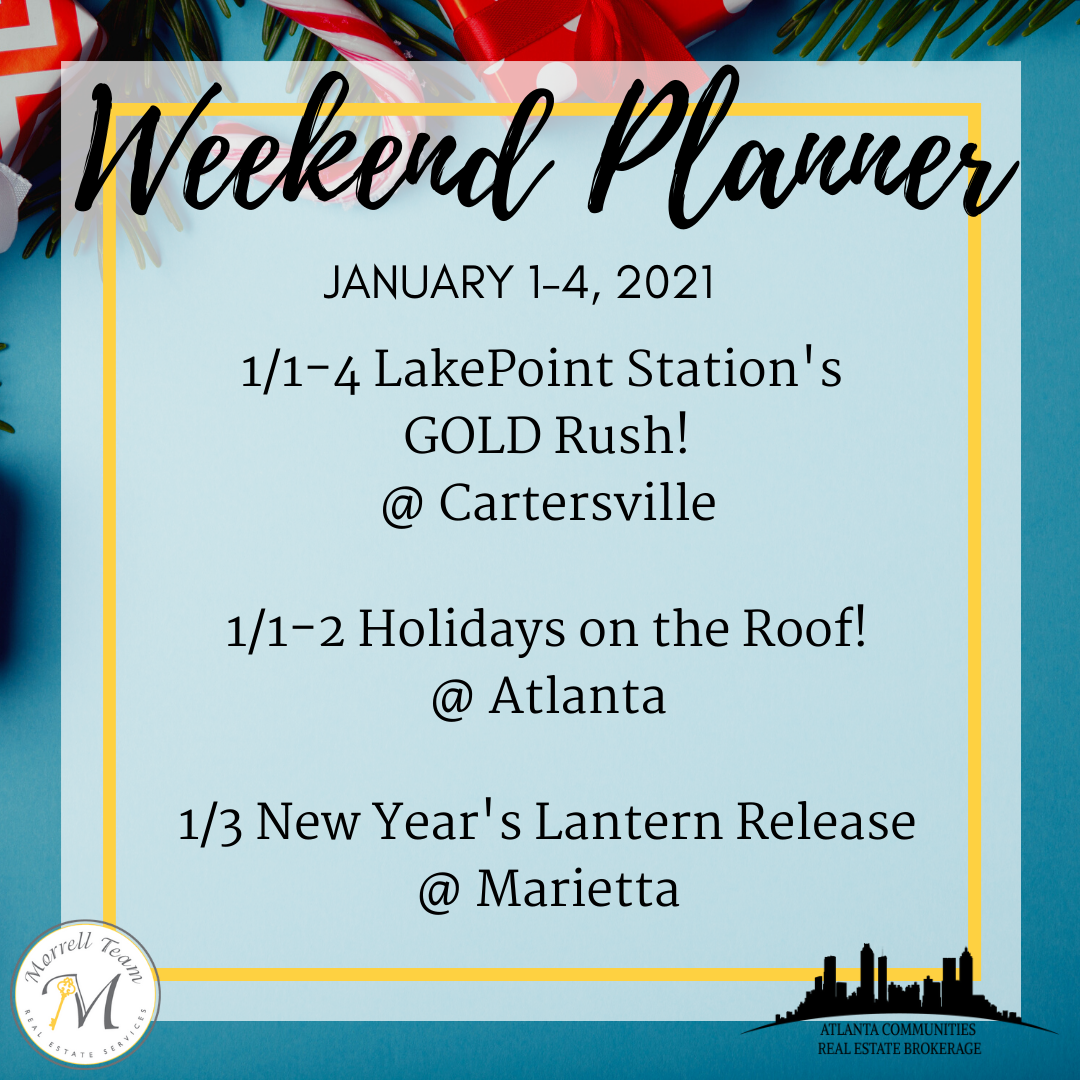 Weekend Planner Dec 30, 2020