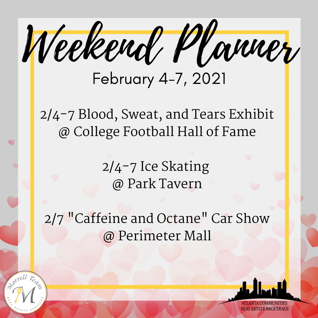 Weekend Planer Feb 3, 2021