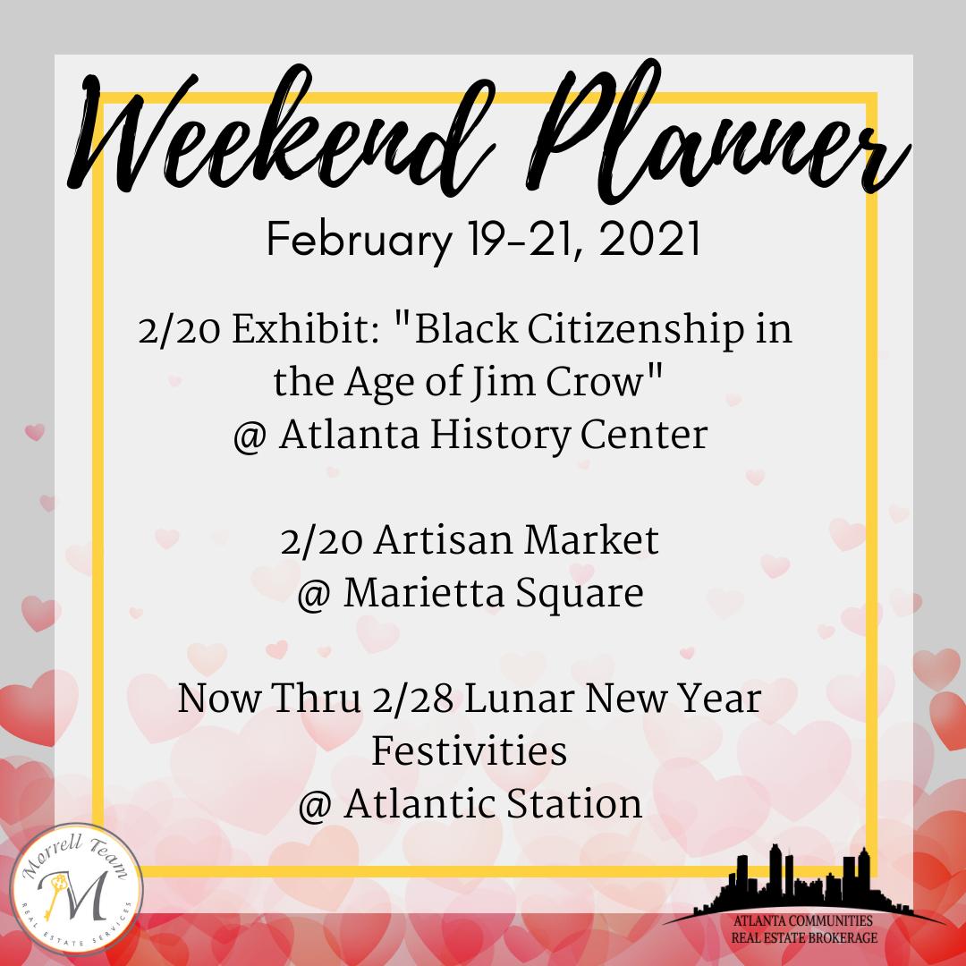 Weekend Planner 2-17-2021