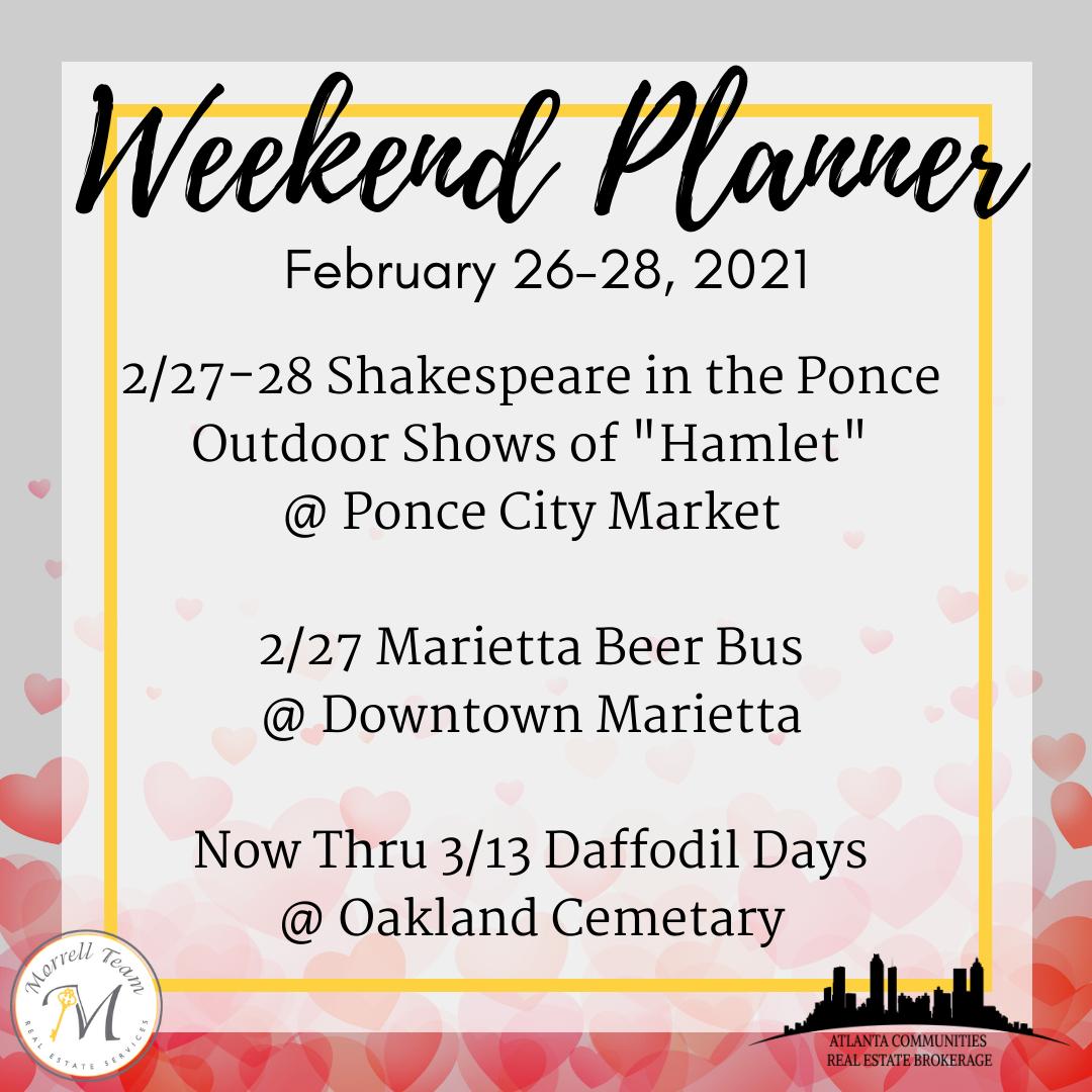 Weekend Planner 2-24-21