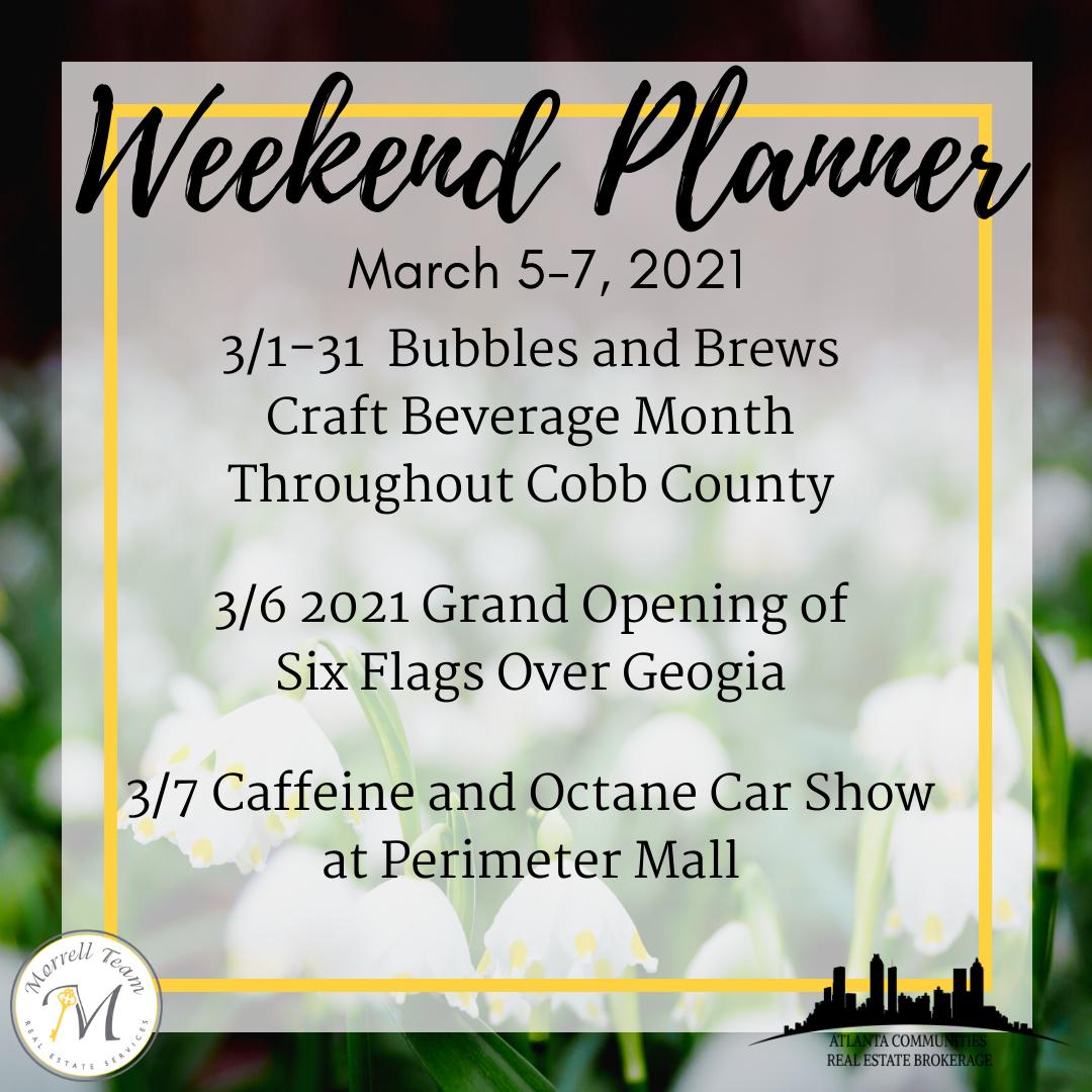 Weekend Planner 3-2-21