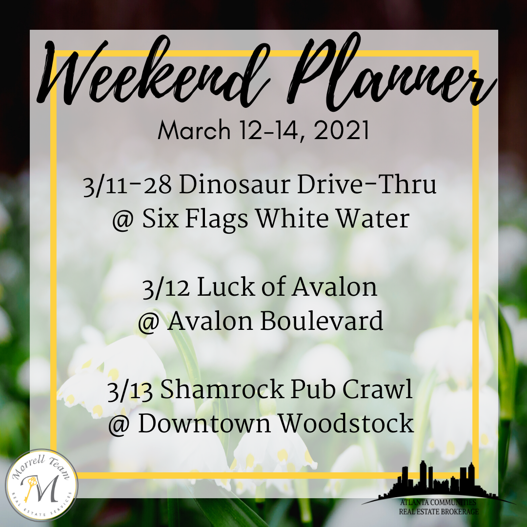 Weekend planner 3-10-21