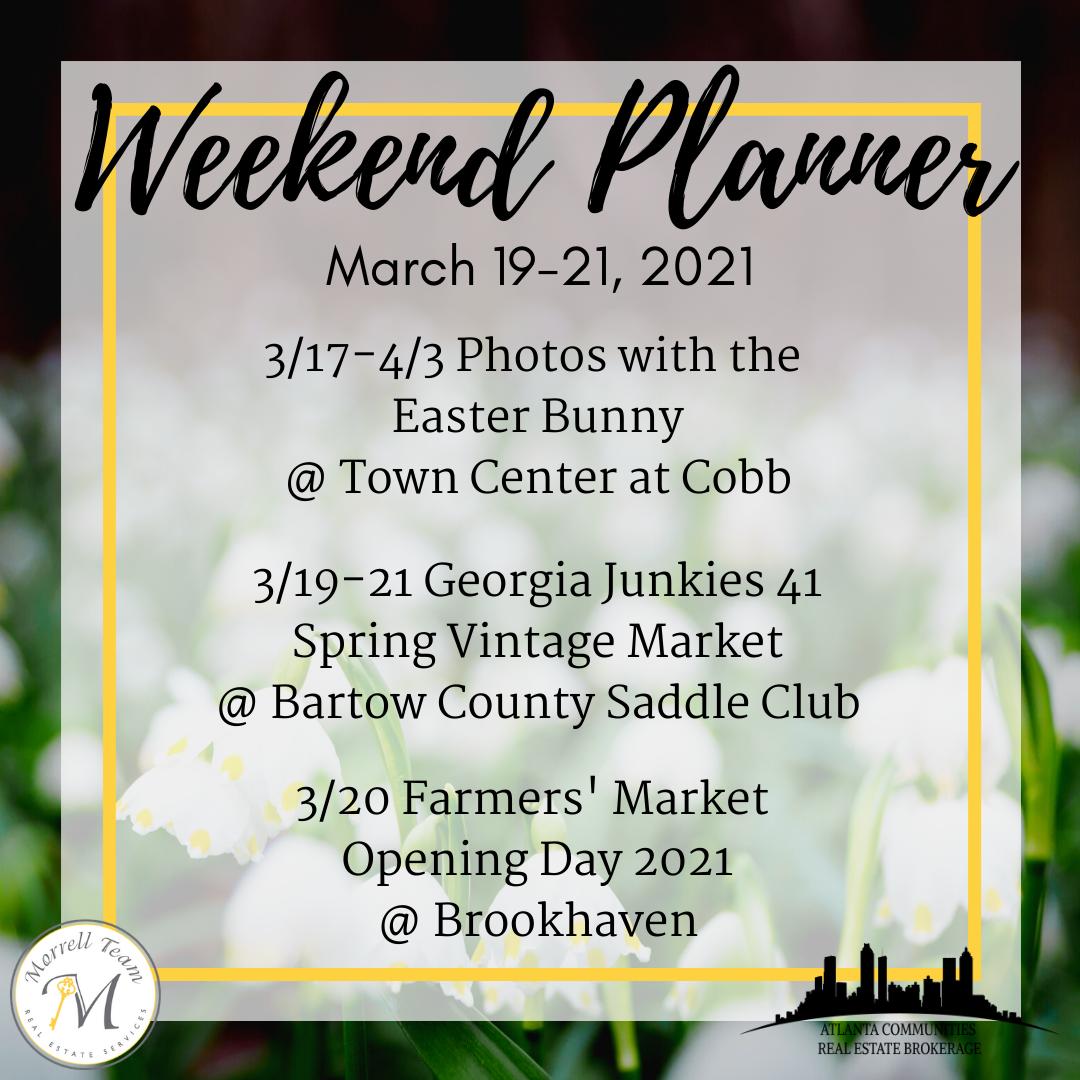 Weekend Planner 3-17-21