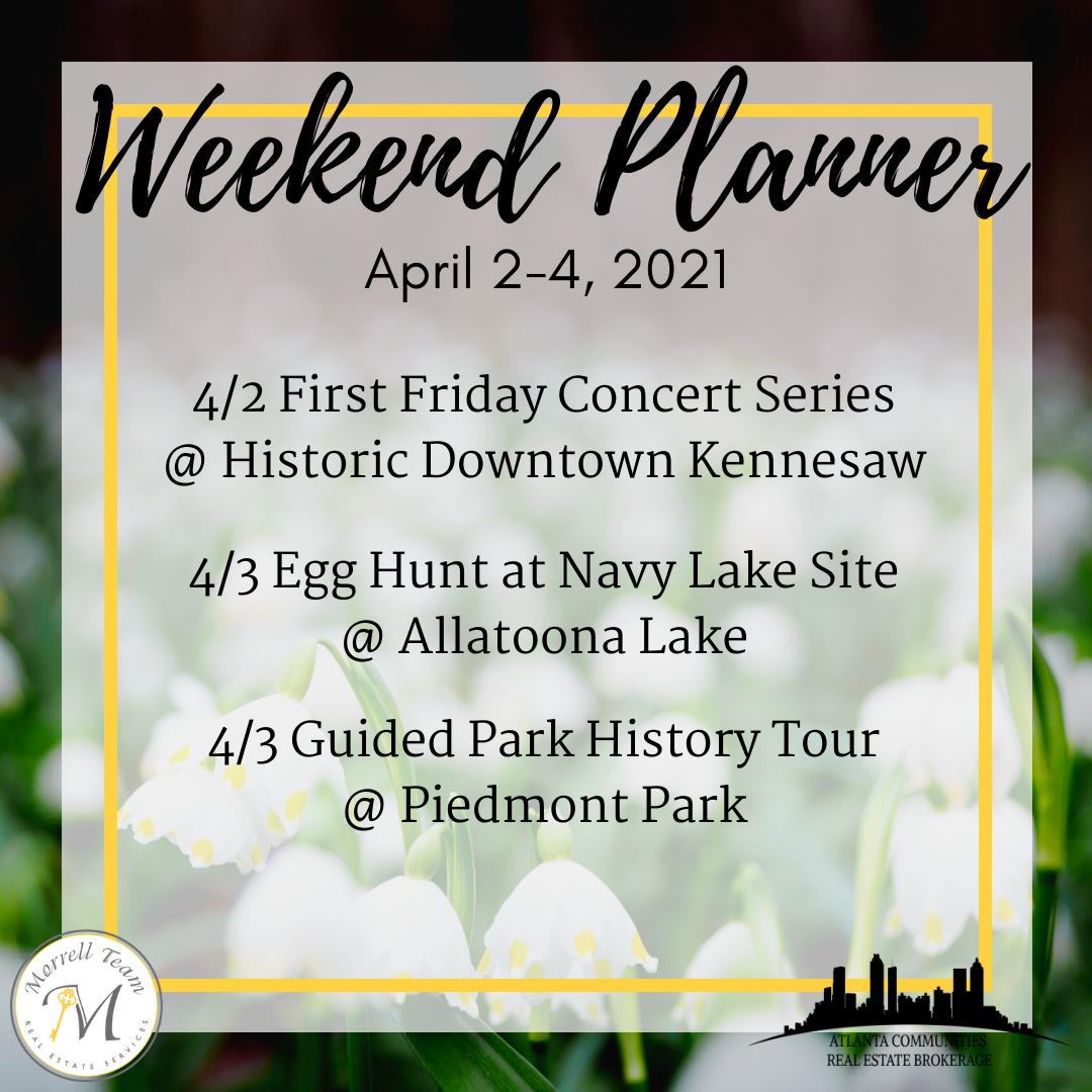 Weekend Planner 3-31-2021