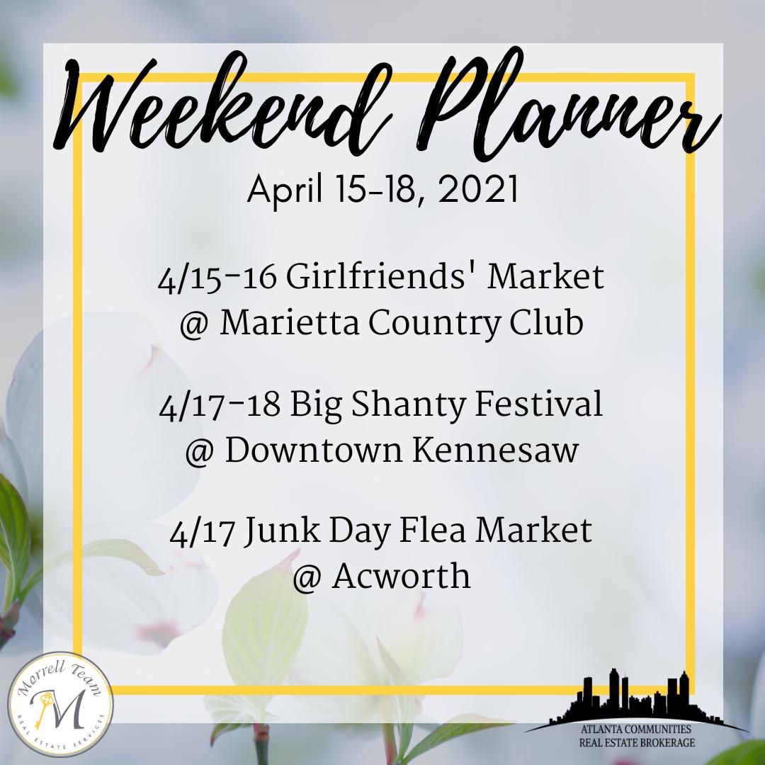 Weekend Planner 4-14-2021