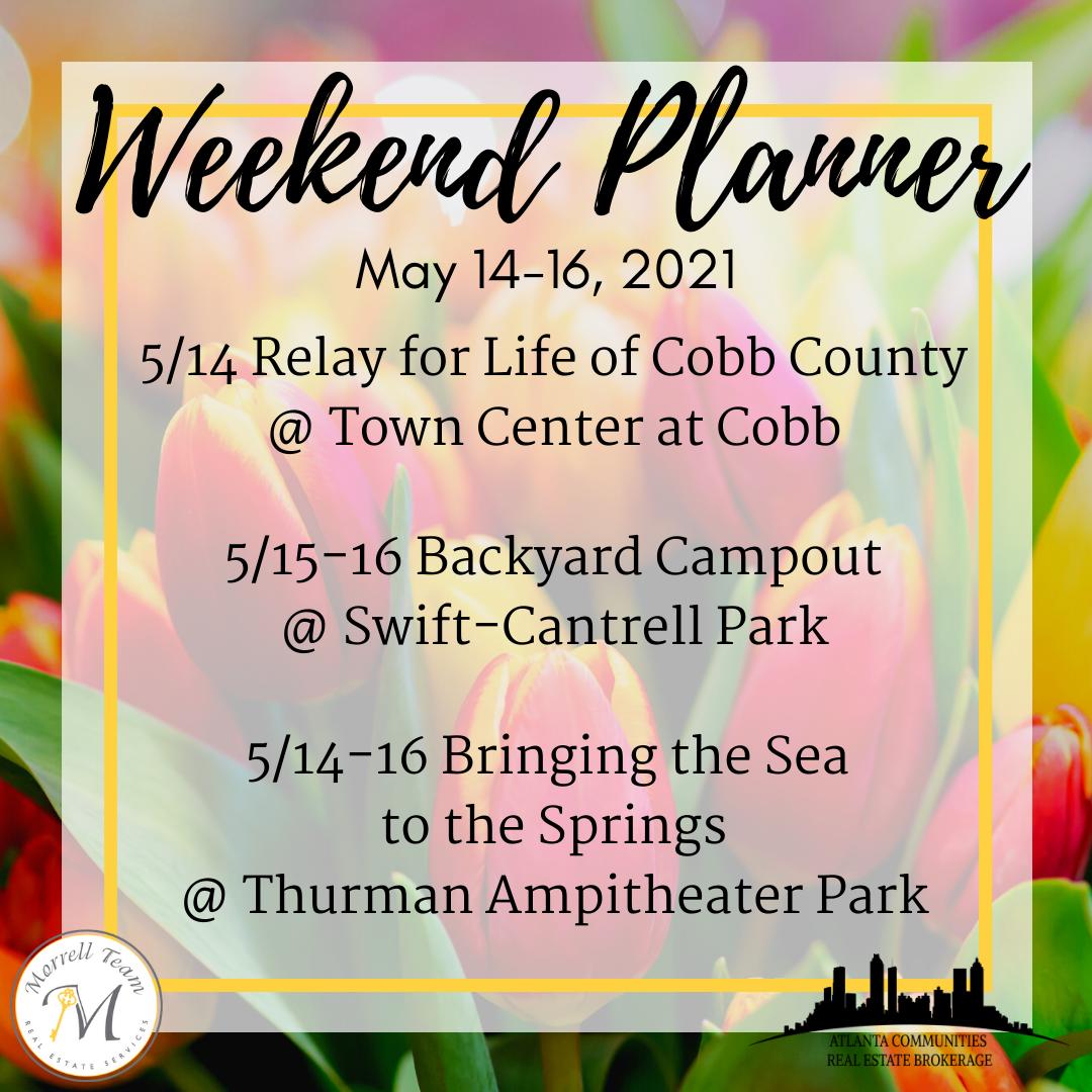 Weekend Planner 5-12-21
