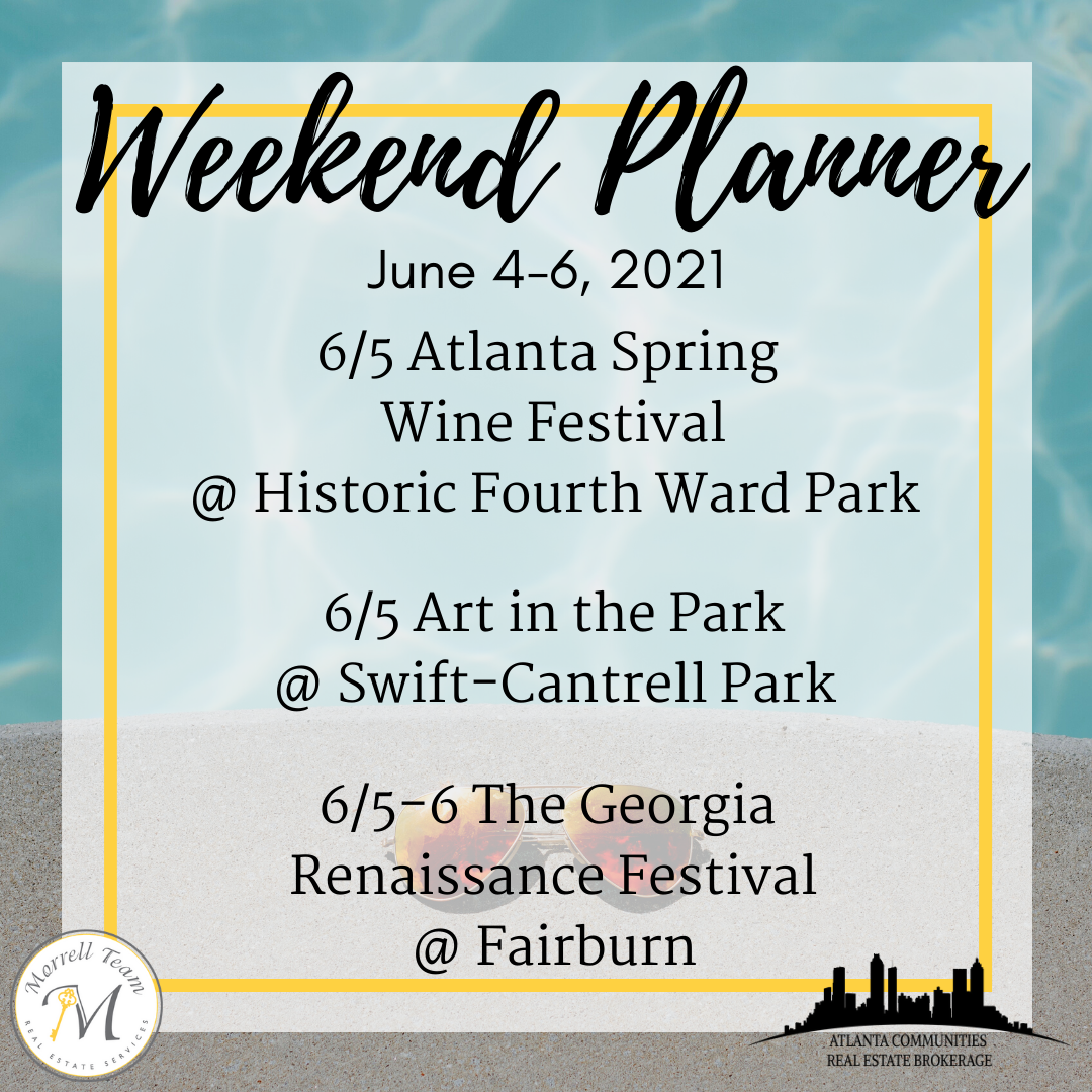 Weekend Planner 6-2-21
