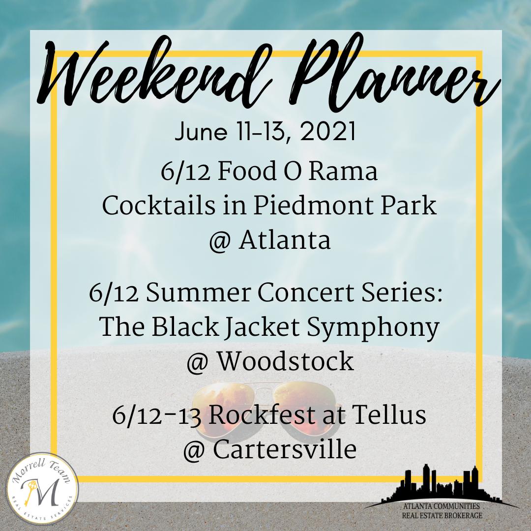 Weekend Planner 6-9-2120