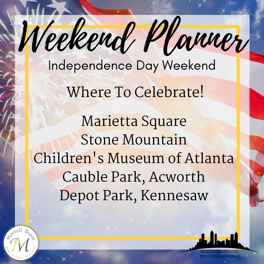 Weekend Planner 6-30-2021