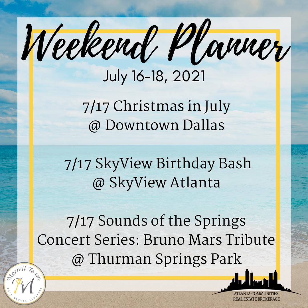 Weekend Planner 7-14-2021