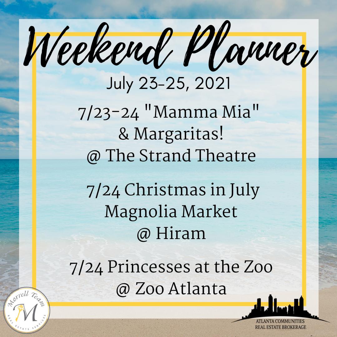 Weekend Planner 7-21-2021