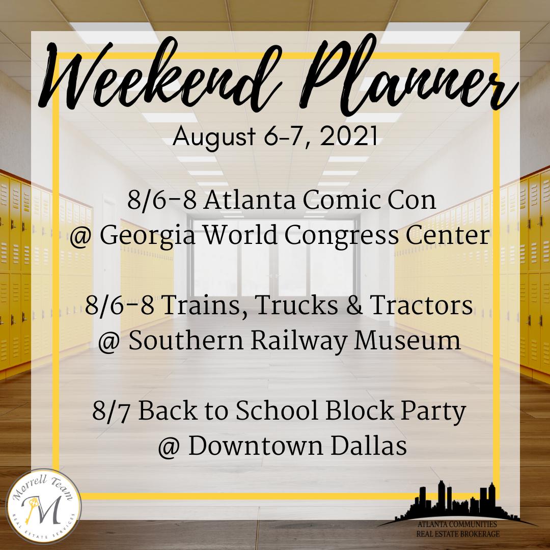 Weekend Planner 8-4-21