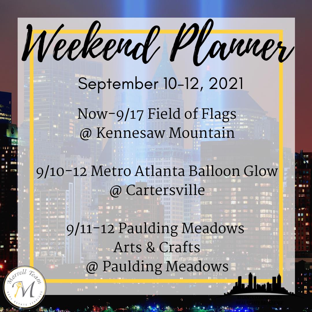 Weekend Planner 9-8-21