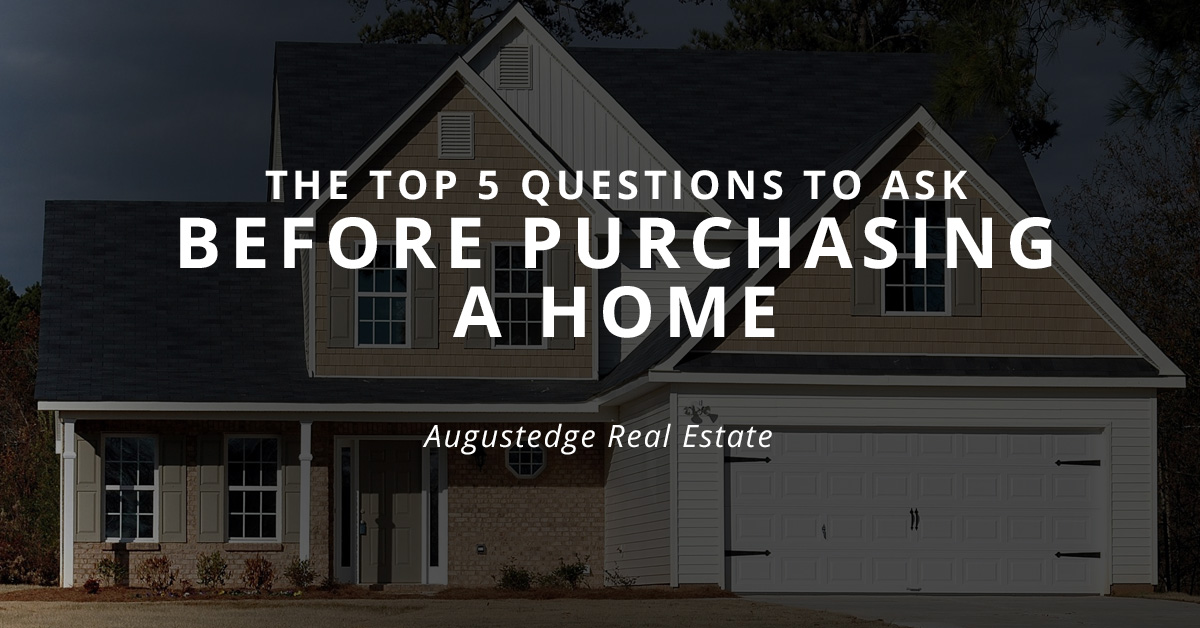 Top 5 questions to ask before purchasing a home