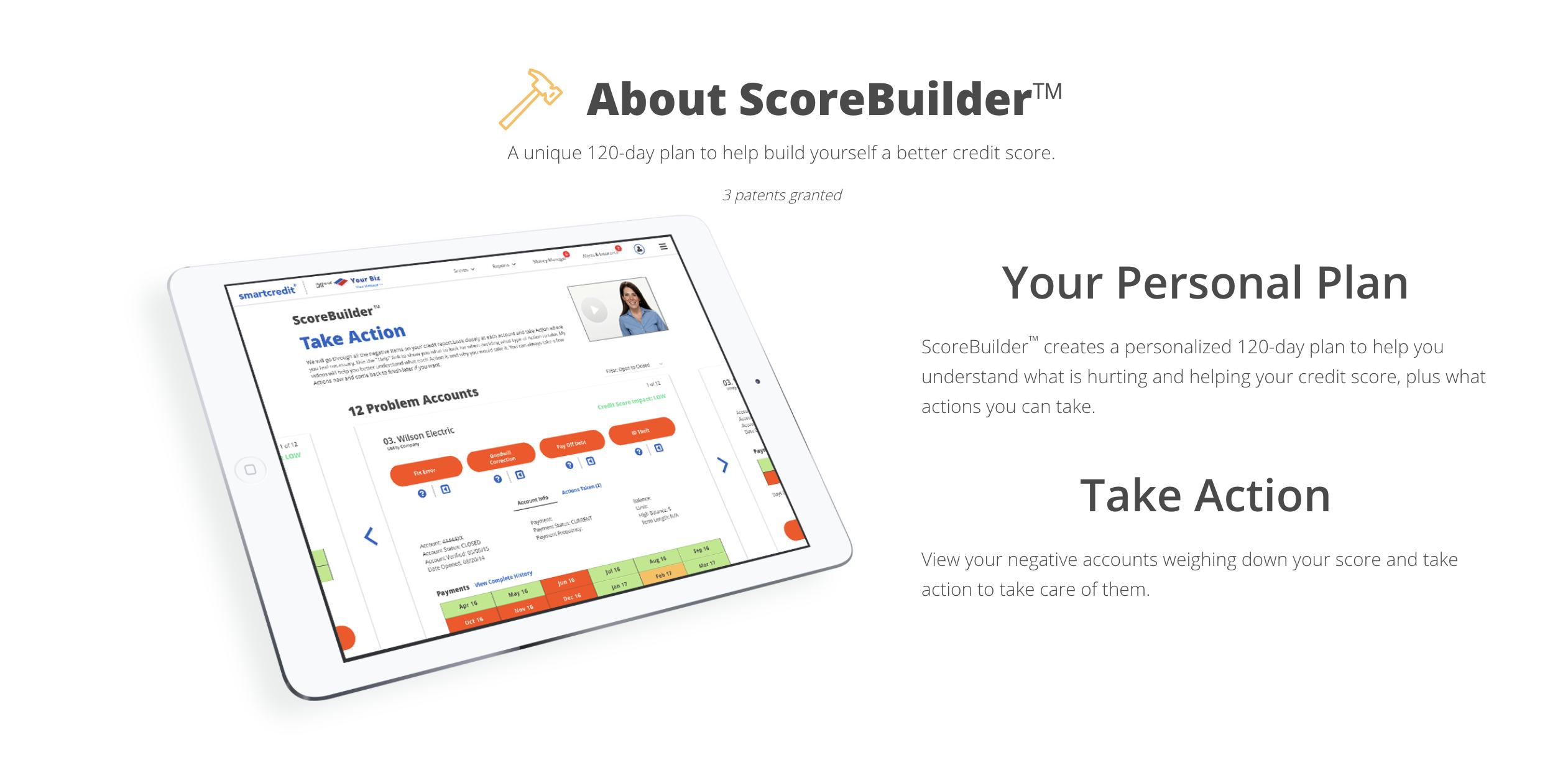 credit score builder graphic