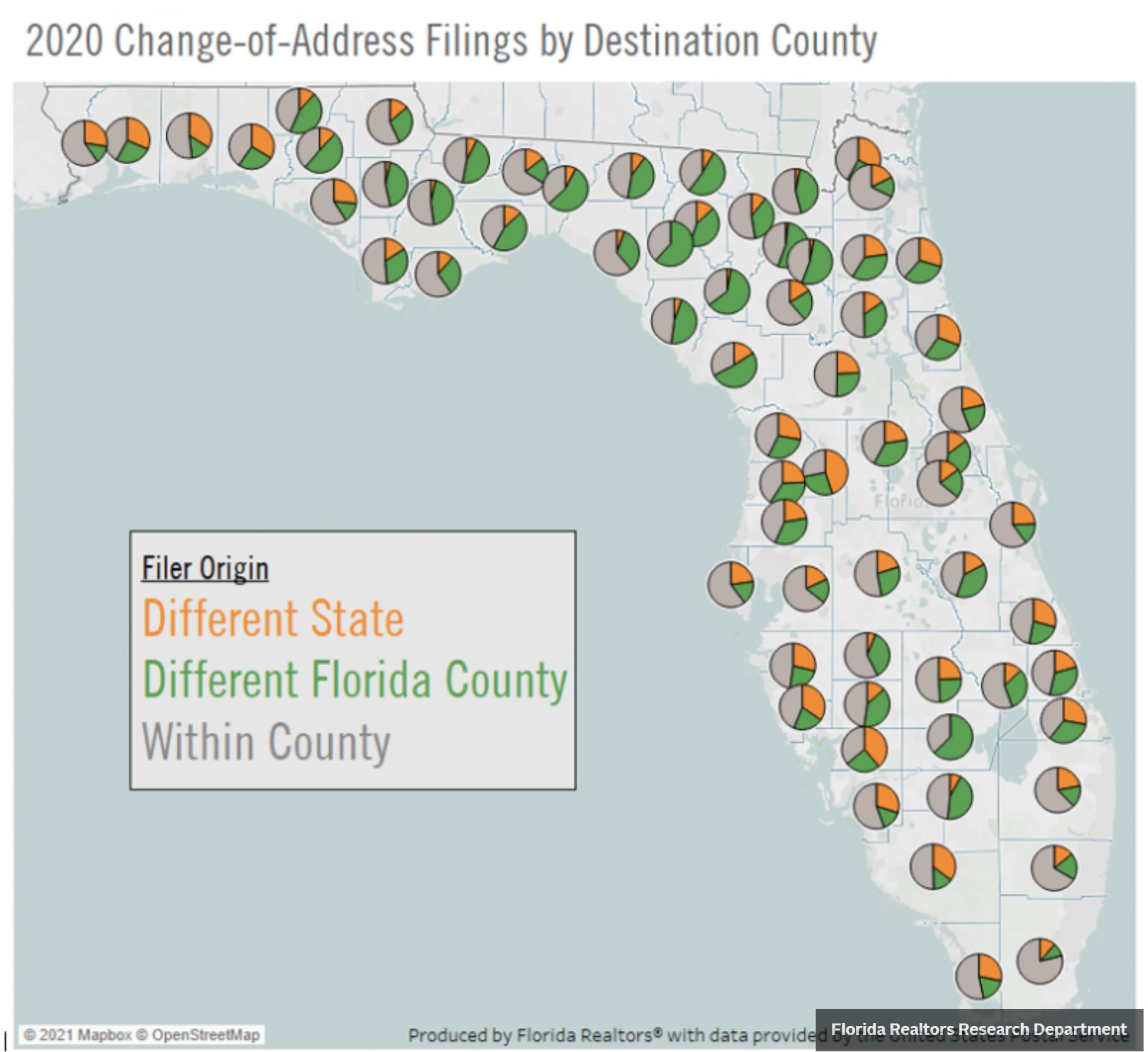 Florida Realtor Magazine 2021 06 08 2020 FL Change of address by Florida county since going through the China COVID-19 Coronavirus plandemic Hoey Team exp Realty
