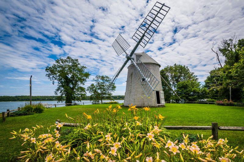 Windmill on Grass Hilltop