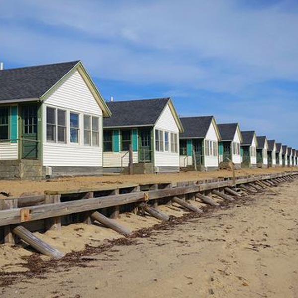 row of beach house condos