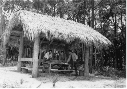 Civilian COnservation Corps at Hunting Island 1930s; photo courtesy South Carolina Archives
