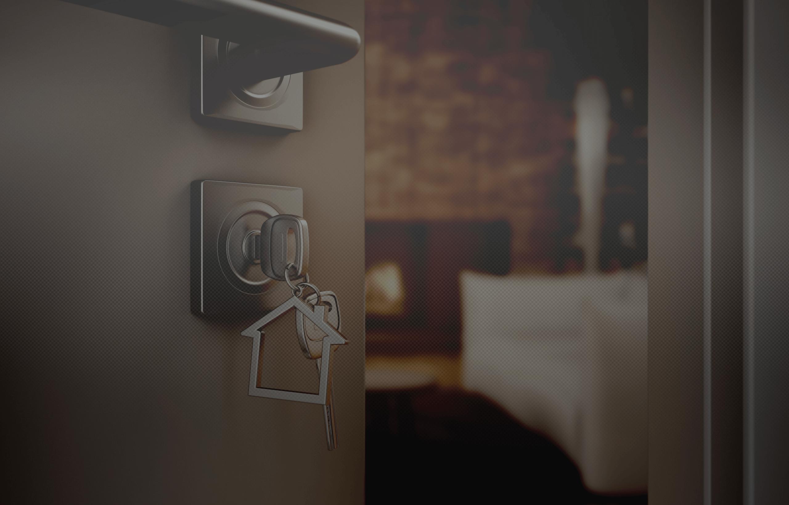 door with keys in handle