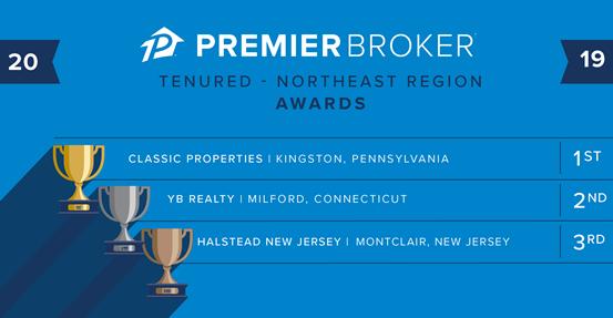 Zillow Premier Broker Excellence Award Winners in Northeastern US Real Estate