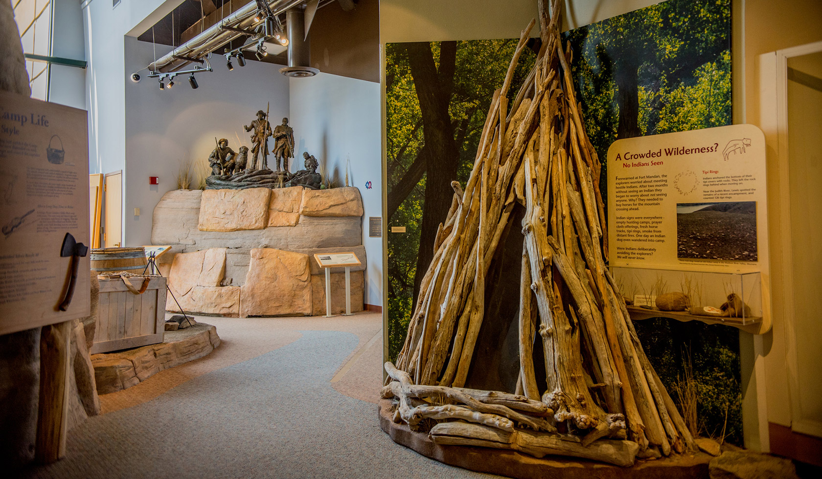 museum in montana with teepee