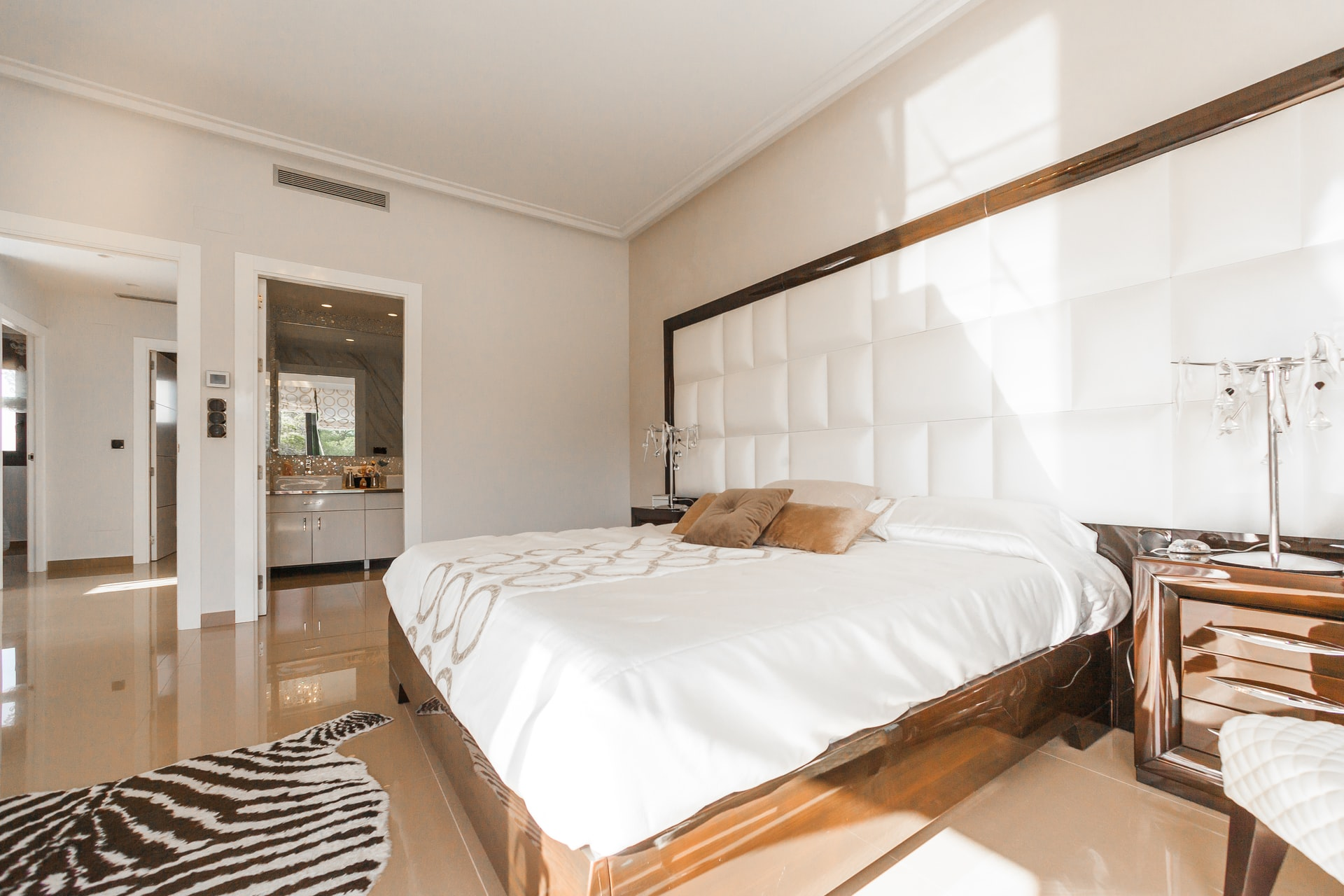 room with bed