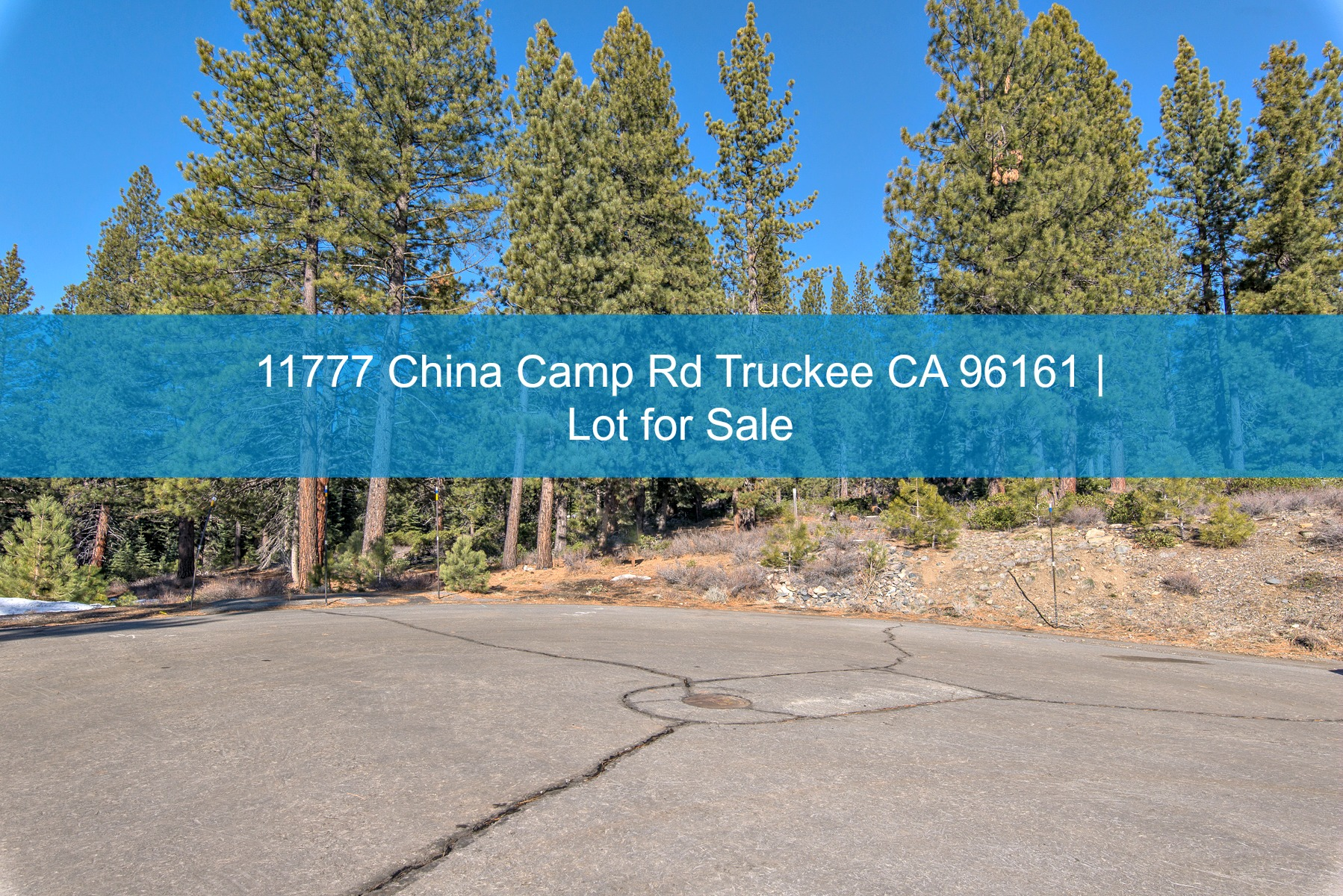 Truckee CA Lot for Sale  - Stunning views, more than half an acre of space, and a genuine sense of tranquility are yours to enjoy in this conveniently located Truckee CA lot for sale.