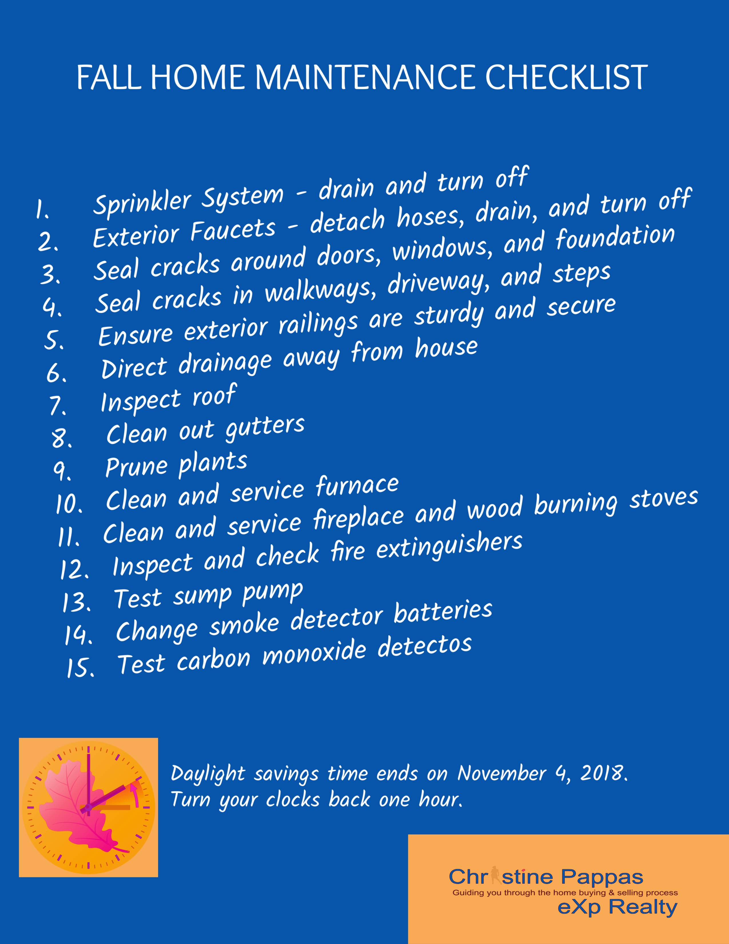 Northeast Ohio Fall Maintenance Checklist
