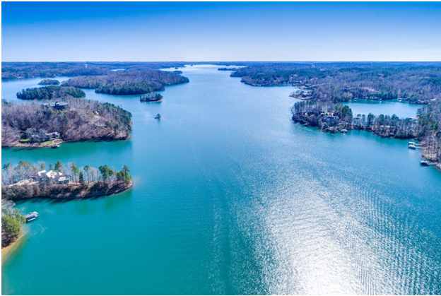 Lake Keowee from above