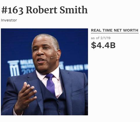 Robert Smith #163 on Forbes List