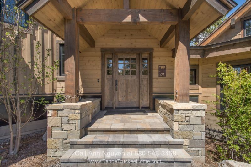Gray's Crossing Truckee CA Homes - You'll love the warm and inviting feel of the portico of this home for sale in Truckee CA.