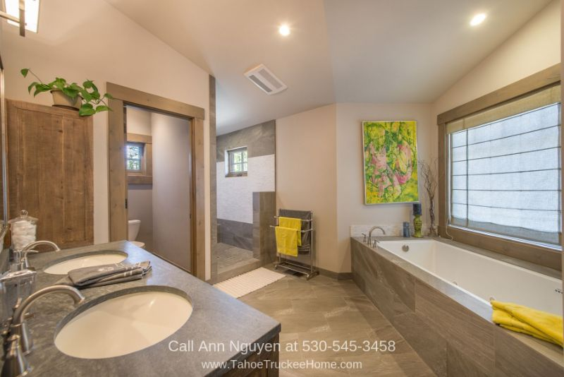 Truckee CA  Homes - Enjoy the best of pampering in the master bathroom of this home for sale in Truckee CA.
