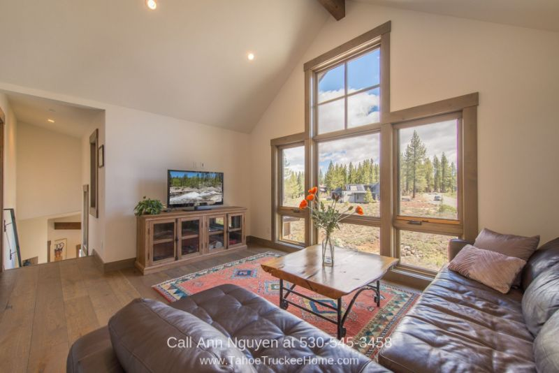 Homes in Truckee CA - The large loft of this Truckee CA home is ideal for relaxing and entertaining.