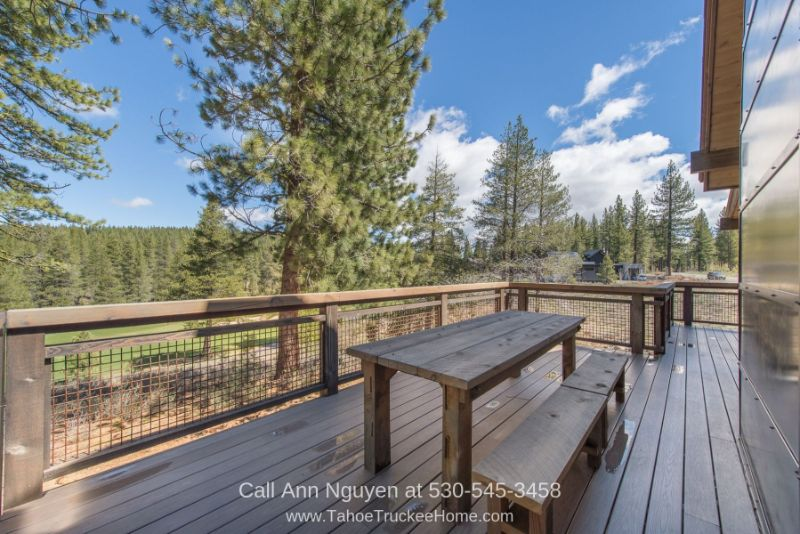 Real Estate Properties for Sale in Truckee CA - Enjoy the spectacular views offered by the deck of this home in Gray's Crossing Truckee CA area.
