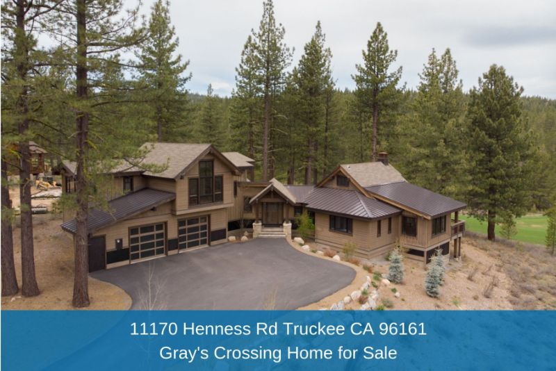 Gray's Crossing Truckee CA Homes for Sale - Privacy, retreat, and style are yours in this gorgeous mountain home in Truckee CA.