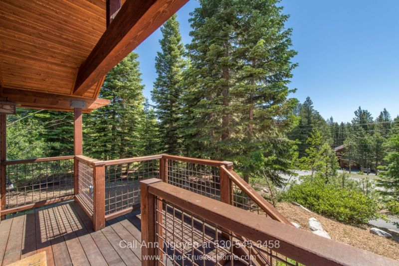 Tahoe Donner Truckee CA Homes - Fall in love with the views from the covered deck of this vacation home in Tahoe Donner.