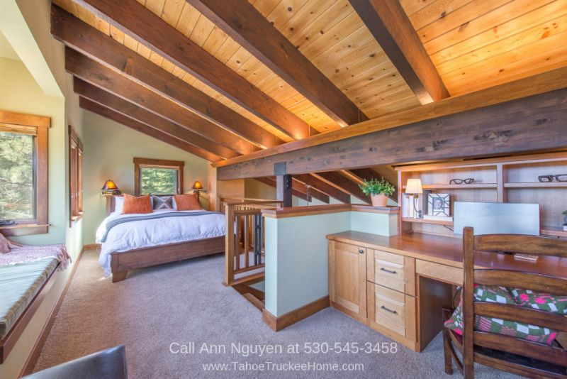 Homes in Tahoe Donner CA - The master suite of this Tahoe Donner home offers the best of privacy and serenity.