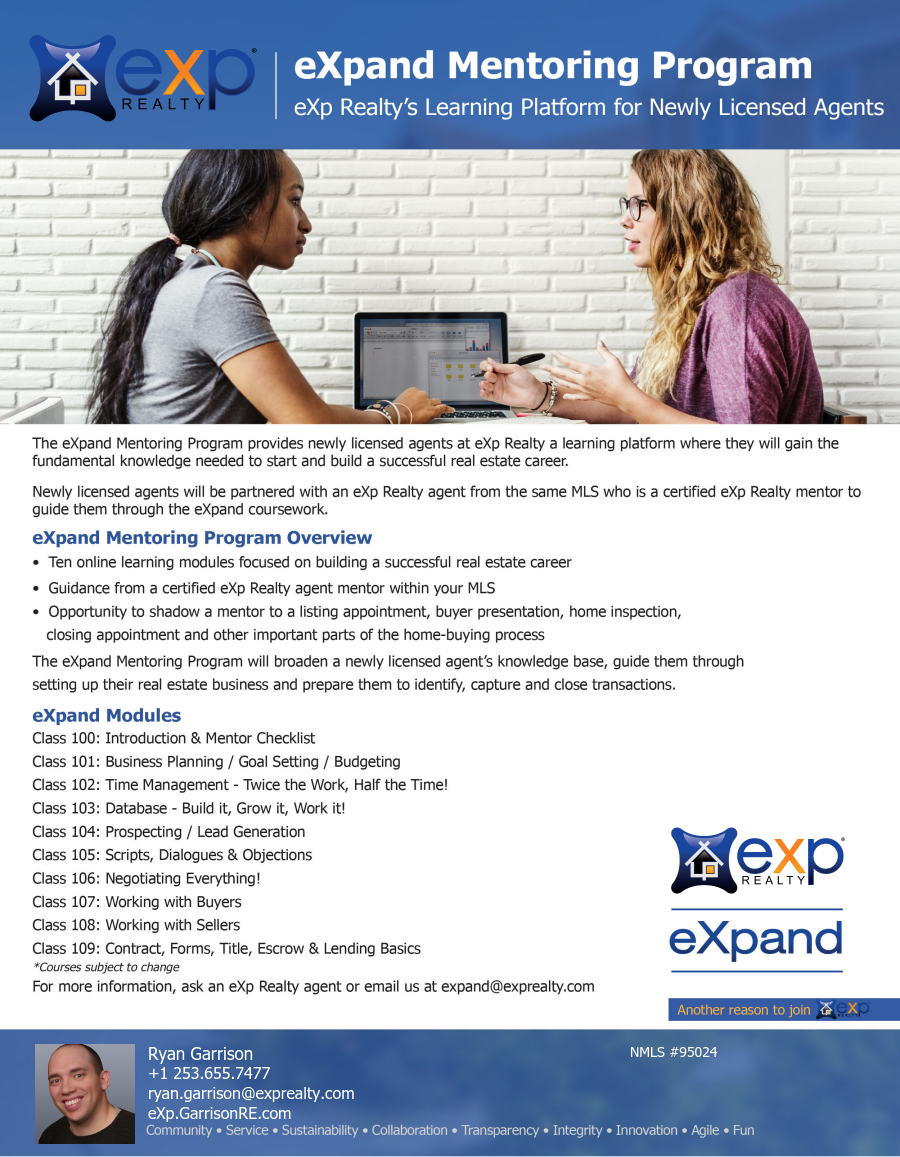 eXp Expand Mentorship Program Helps Nurture New Agents to Become Producers