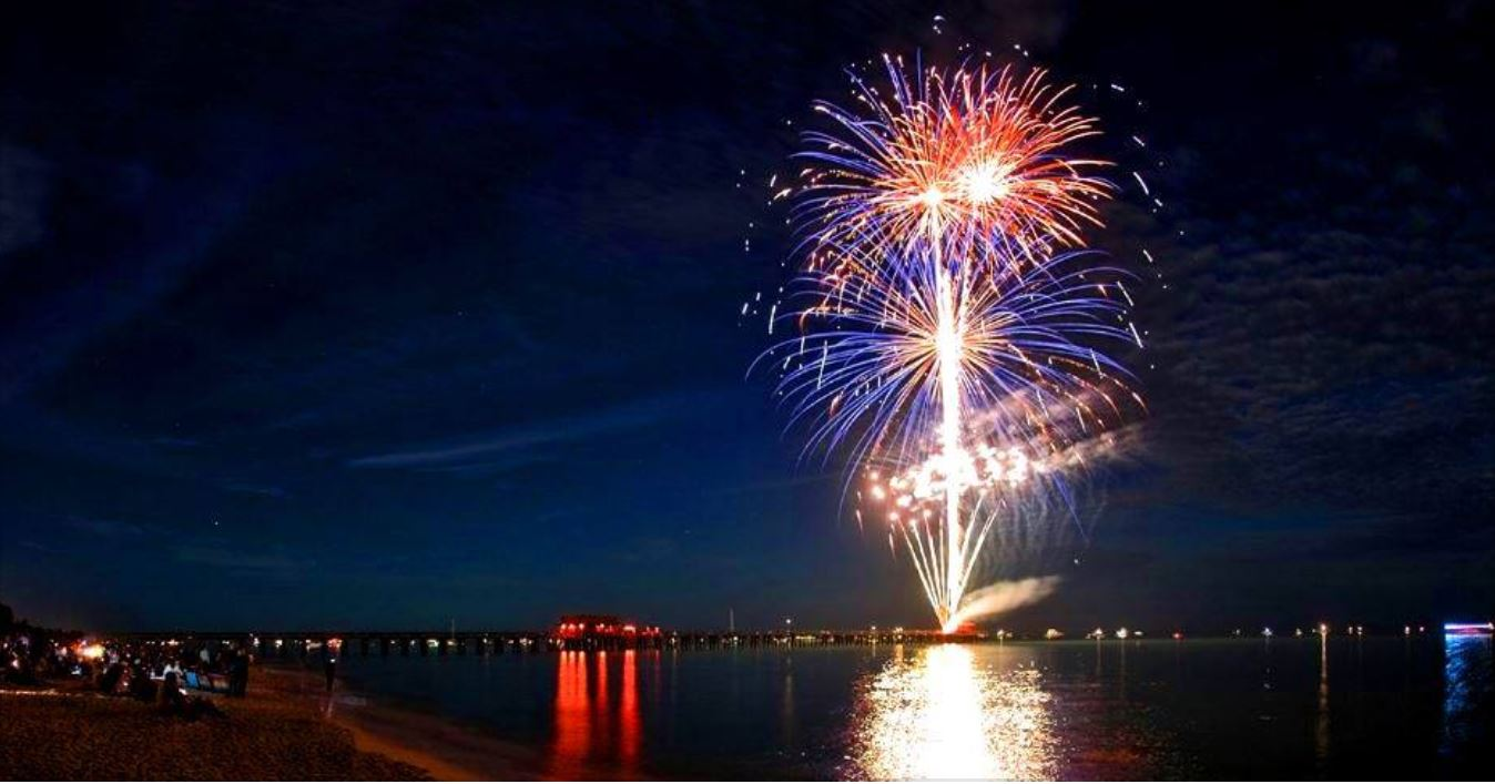 Naples fireworks schedule and link to a live viewing camera for the New Year Eve fireworks celebration