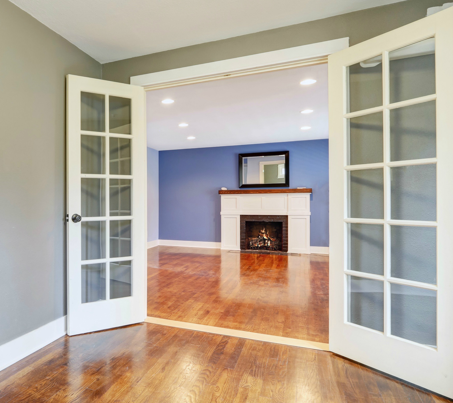 French doors opening to living room 1800x1600