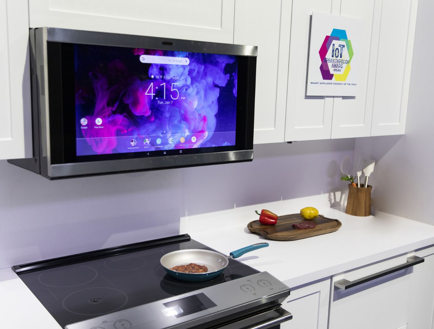 Smart Home Tech CES Las Vegas 07 Cooking While Streaming Hoey Team eXp Realty