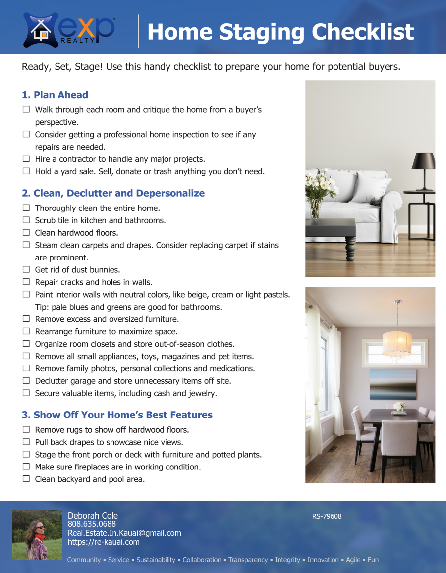 Seller's Home Staging Checklist