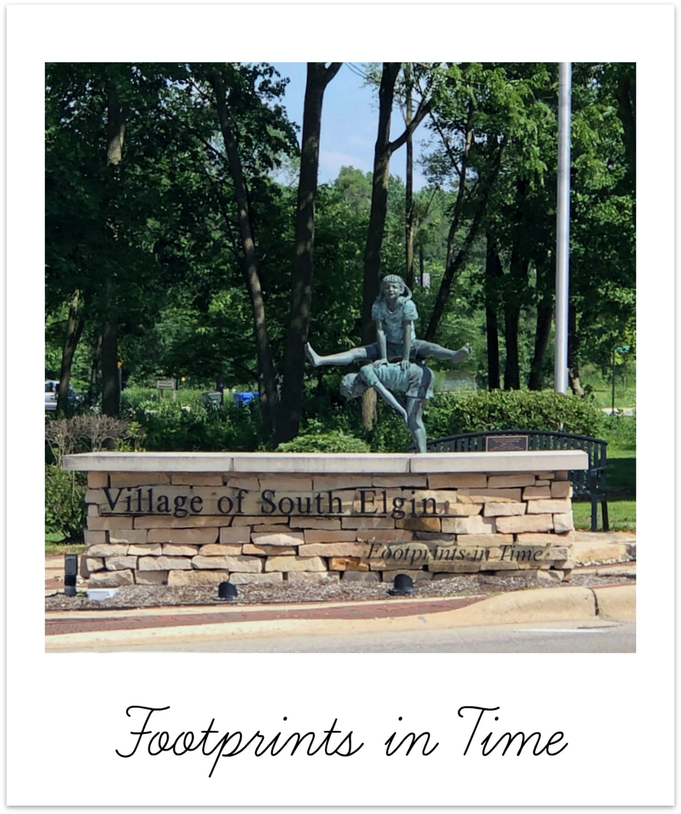 South Elgin Footprints in Time Statue BRIX Picks